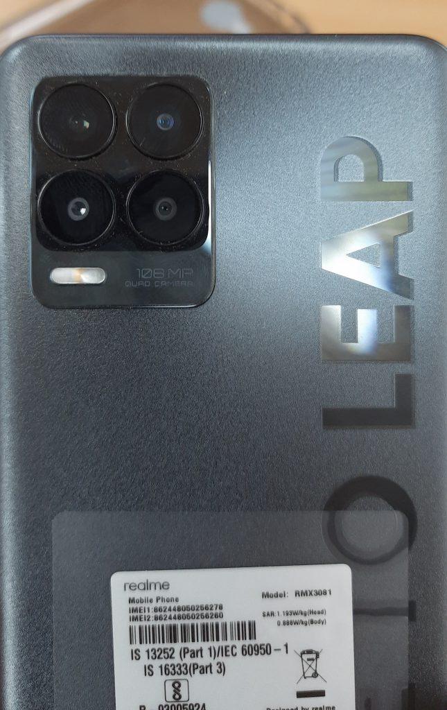 Realme 8 Pro rear camera